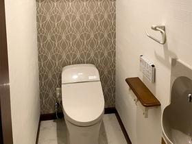 トイレリフォーム清涼感のあるトイレ空間