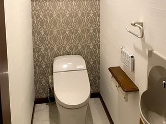 トイレリフォーム 清涼感のあるトイレ空間
