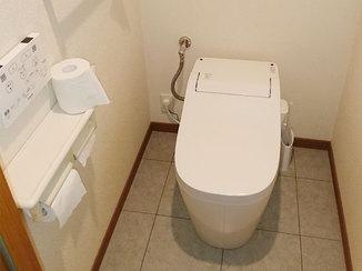 トイレリフォーム マンション高層階の水圧に対応したタンクレストイレ