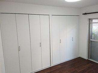 内装リフォーム 収納を増やし明るくスッキリとした洋室のリビング