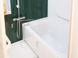 バスルームリフォーム ひろびろ足をのばして入れるようになったお風呂