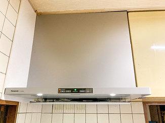 キッチンリフォーム 使い勝手が良く、お掃除もラクなレンジフード
